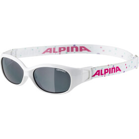 Alpina Sports Flexxy Lunettes Enfant, white-dots